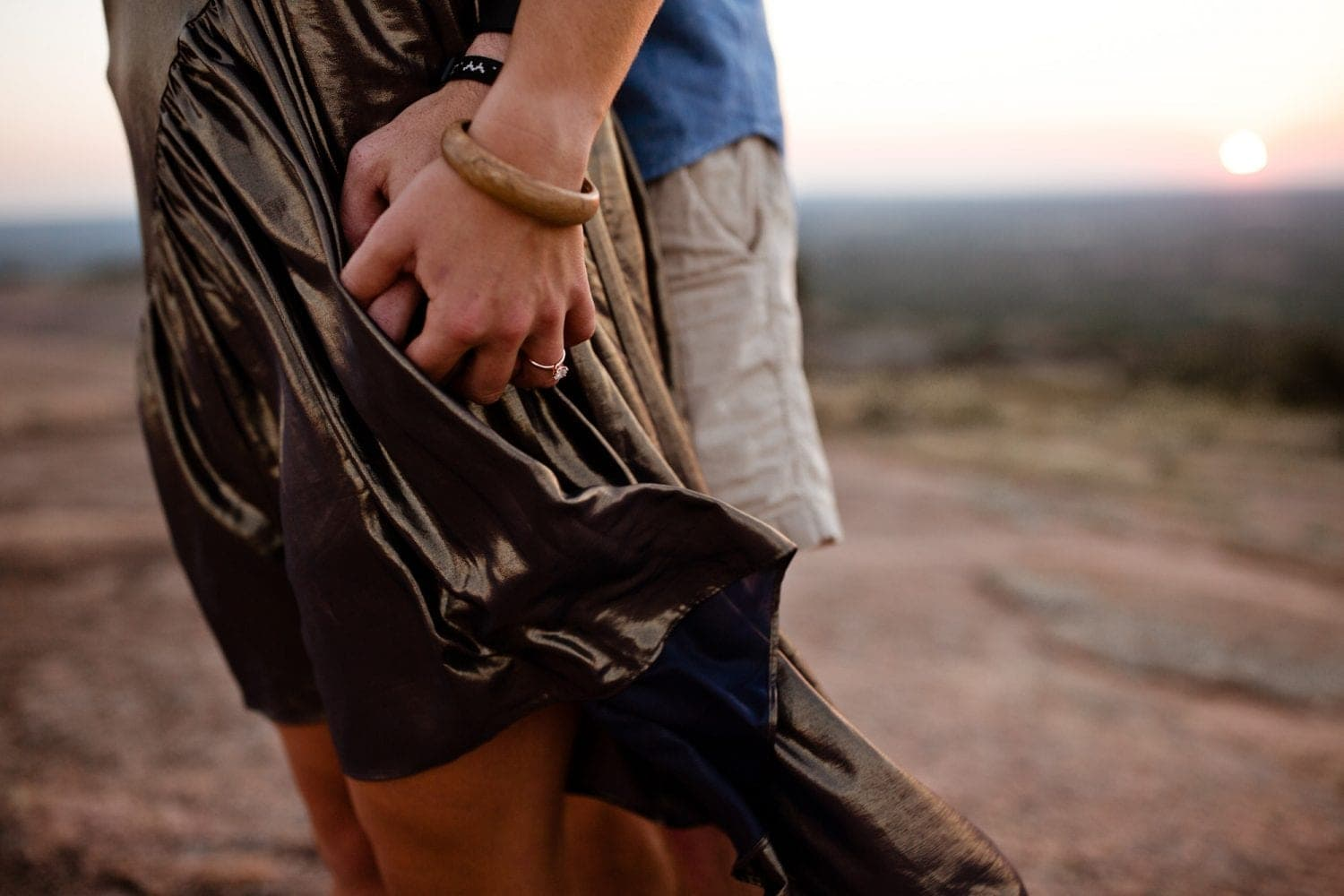 Enchanted Rock Engagement by A Nomadic Love