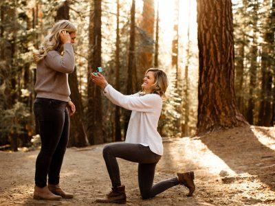 Yosemite Engagement Session at Glacier Point