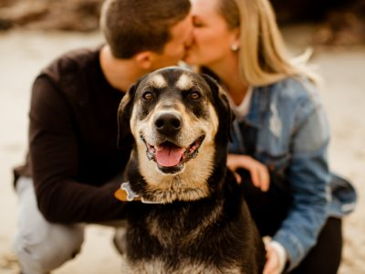 Including Your Dog in Your Engagement Photos